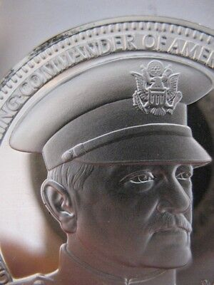 7 8 Oz General Pershing Freemason Brotherhood  Masonic  Coin Silver  925   Gold