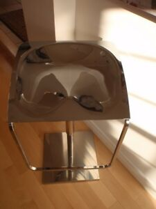 Modern Chrome Bar Stool - Pedrali -