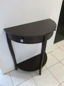 Hallway Console Table with 2 drawers, half moon shape. Small.