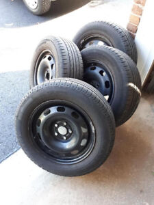 4 Summer Tires w/ Steel Rims 195/65R15 *reduced price*