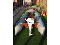 Classic Astral 3.3 mtr Rib boat /Mariner 4hp