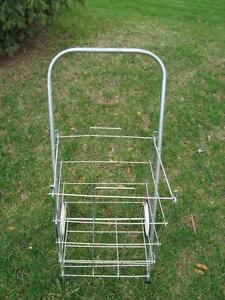 Vintage 1960's Laundry / Grocery Two Wheeled Cart -Perfect Shape Kitchener / Waterloo Kitchener Area image 3