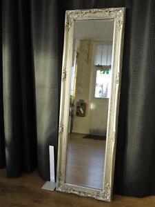 TALL ANTIQUE SILVER DRESSING ROOM FULL LENGTH FLOOR WALL MIRROR