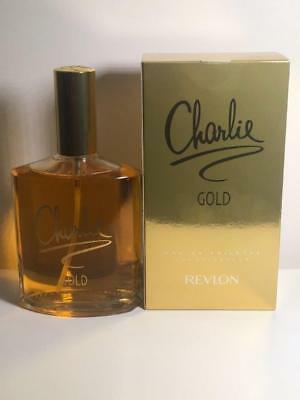 Charlie Gold By Revlon 3 4 Oz Eau De Toilette Perfume For Women 100 Ml Spray Edt