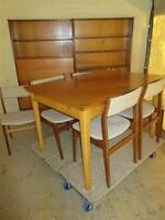 1960 EIGHT PIECE TEAK DINING SET FROM AUNTS ESTATE