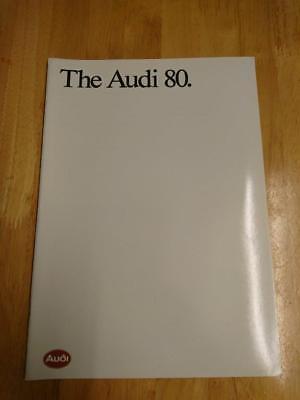 1988 Audi 80 Brochure