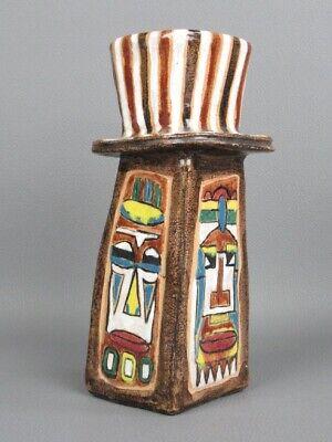 Sculpture Contemporary Vase Totem Ceramics Years' 50 Signed