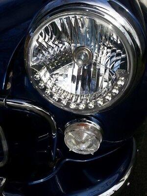 Halogen H4 LED DRL style Head lights for Morris Minor Van pickup traveller lamps
