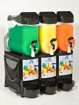 New Black Faby Skyline 3 Bowl Frozen Drink Machine