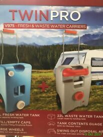 Crusader twin wheel fresh and waste water containers