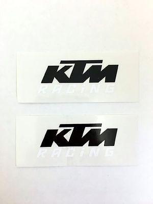 XY000222 KTM Logo Original Sticker Aufkleber KTM Racing Schriftzug Supermoto
