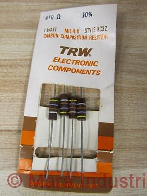 Trw Electronics Components Mil-r-11 Carbon Resistor 470 Pack Of 4