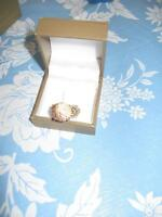 Ornate Champagne Ring - size 10