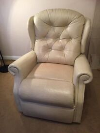 Woburn Electric Cream Leather Recliner Chairs