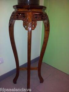 Soporte florero madera decoracion mueble podium jarron - Rinconeras de madera ...