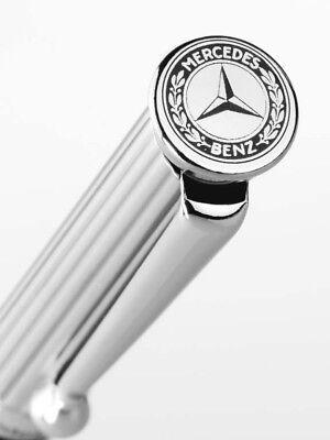 Original Mercedes-Benz Metall Kugelschreiber Stift Logo silber grau Rollerball
