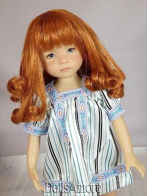 """CARROT DOLL WIG SIZE 7/8"""" FITS VINTAGE AND MODERN DOLLS"""