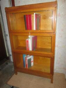 1920S GOLDEN OAK STACKING BOOKCASE FROM ESTATE