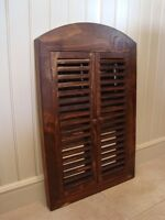 Solid Wood Plantation Shutters w/ Mirror - Brand New Never Used
