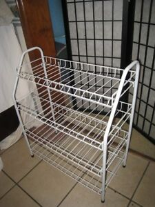 Metal White Shoes Rack with 4 shelves, great condition