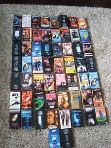 Lot of 58 Assorted VHS Tapes -Selling All for $27.00 or $2.00/Ea
