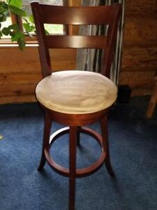 2 X SOLID WOOD BAR STOOLS  - $65.00 for PAIR