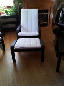 Ikea PoAng Chair and Footstool $120.00