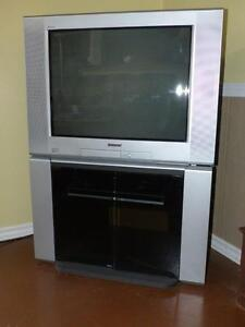 "Sony 26"" TV, DVD player and stand Free"