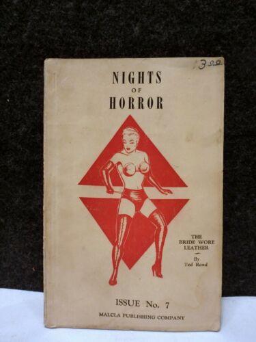 RARE 1954 NIGHTS OF HORROR Joe Shuster SUPERMAN COMIC BOOK BONDAGE # 7 1ST ED