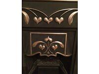 2 x beautiful cast iron fireplaces