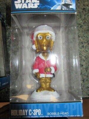 2010 FUNKO Star Wars C3PO Bobble-Head Christmas Holiday NEW!