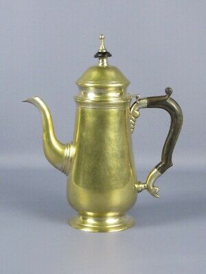 Vintage Teapot Coffee Pot Victorian Brass with Handle in Horn Xx Century