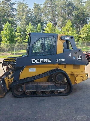 2016 John Deere 323e Compact Track Skid Steer Loader W Cab 2500hrs Clean