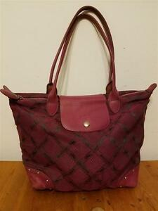 Longchamp maroon, long-handle bag, made in France