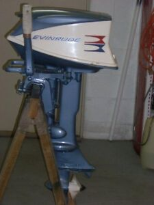 Evinrude twin cyl reconditioned 5.5 hp trolling motor.