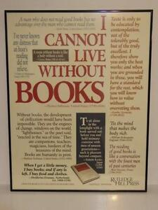 Books Poster - I CANNOT LIVE WITHOUT BOOKS -