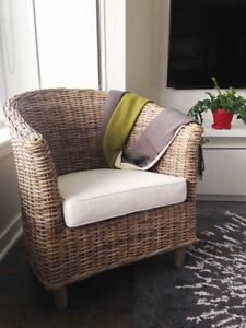 NEW Wicker Rattan Chair with Cushion