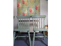 4 x preloved rusdining chairs newly painted- option to have additional matching cushions