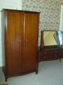 1980s Stag retro style wardrobe and dressing table dark brown colour