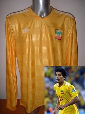 Ethiopia ADIDAS L/S Shirt Jersey Soccer Adult XL Maglia BNWT World Cup Africa Y image