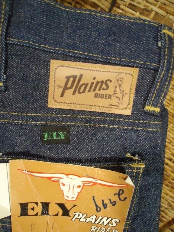 NOS Vtg 60s Ely Plains Rider Boot Cut 13 3/4 Oz Sanforized Jeans sz 16 w 29x28 L