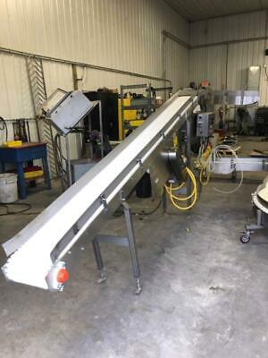 Keenline 10 Inch Wide Stainless Steel Sanitary Incline Intralox Belt Conveyor