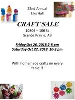 22nd Annual Elk's Hall Craft Sale