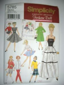 Barbie Doll Vintage Tops Skirts New Simplicity 5785 Pattern