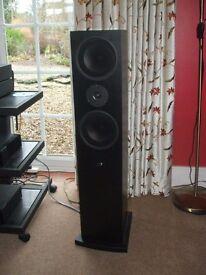 Pair of Linn Ninka loudspeakers - black excellent condition - wonderful sound