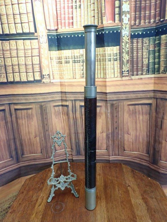 Antique English Optical Telescope T Cooke &Sons 3581 Naval Spyglass Office Decor