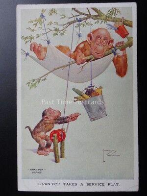 Theme GRAN'POP TAKE A SERVICE FLAT c1944 (Monkey Theme)