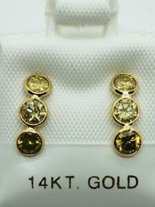 14k Yellow Gold Diamond Earrings 1.00ct - Appraised at $2400