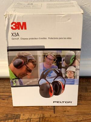 3m Peltor X3a Nrr 28db Over-the-head Ear Muffs Construction Blackred New