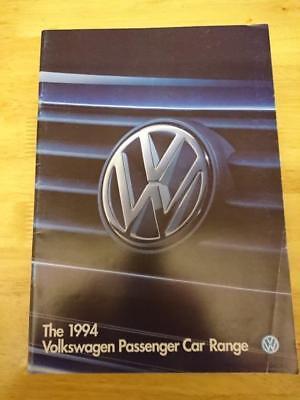 1994 VW Range Brochure Inc. Polo G40, Golf VR6, Corrado VR6, Caravelle